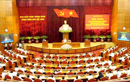 Hội nghị đã dành 5 ngày để kiểm điểm tự phê bình, phê bình 4 lãnh đạo chủ chốt là Tổng Bí thư, Chủ tịch nước, Thủ tướng và Chủ tịch Quốc hội. Ảnh: Chính phủ.