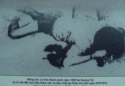 Đồng chí Lê Văn Hanh bị cố vấn Mỹ bắn chết sau khi thẩm vấn