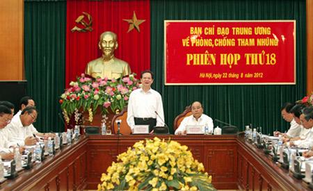 Tham dự phiên họp còn có Phó thủ tướng Nguyễn Xuân Phúc và lãnh đạo nhiều bộ, ngành. Ảnh: Chinhphu.vn
