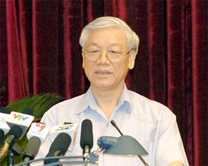 Tổng Bí thư Nguyễn Phú Trọng. Ảnh: Chính phủ.