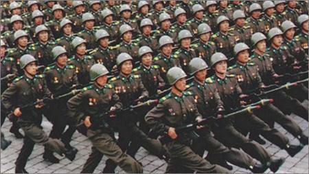 Quân đội Triều Tiên. Ảnh Tân Hoa xã