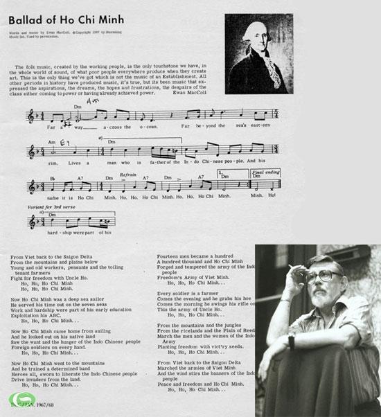 """Bản nhạc """"The ballad of Ho Chi Minh"""" và nhạc sĩ Ewan MacColl"""
