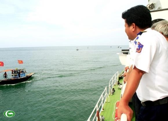 Lực lượng cảnh sát biển là chỗ dựa vững chắc cho ngư dân.
