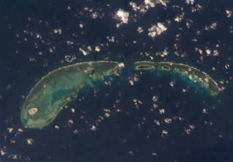 Một nhóm đảo thuộc quần đảo Hoàng Sa của Việt Nam.