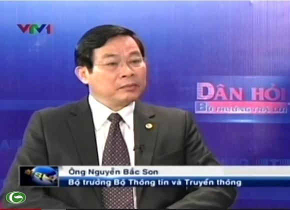Bộ trưởng Bộ Thông tin và Truyền thông Nguyễn Bắc Son