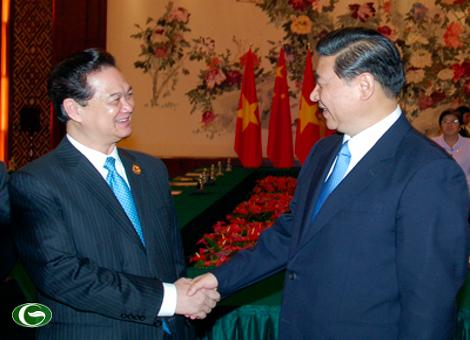 Thủ tướng Nguyễn Tấn Dũng và Phó Chủ tịch Trung Quốc Tập Cận Bình