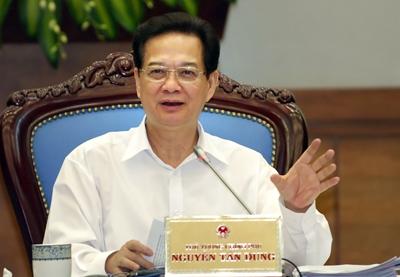 Thủ tướng Nguyễn Tấn Dũng nhấn mạnh không để lạm phát ở mức 2 con số. Ảnh: VGP/Nhật Bắc