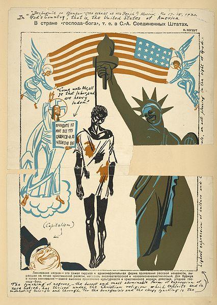 Biếm họa về nhân quyền kiểu Mỹ