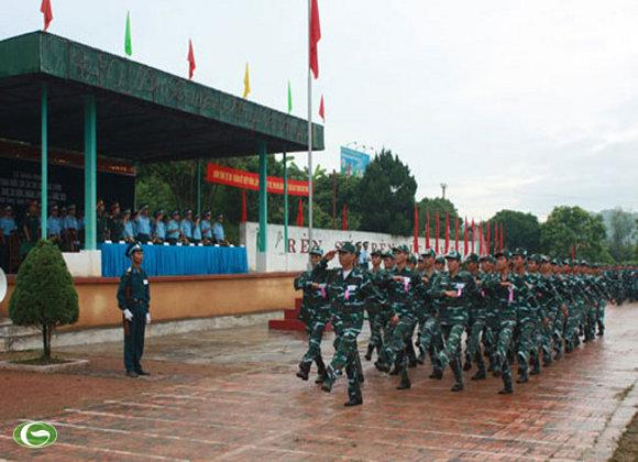 Lễ khai mạc và duyệt đội ngũ trong Hội thao