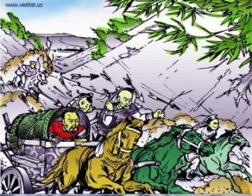 Trần Ích Tắc và Trần Kiện chạy theo Thoát Hoan lên biên giới