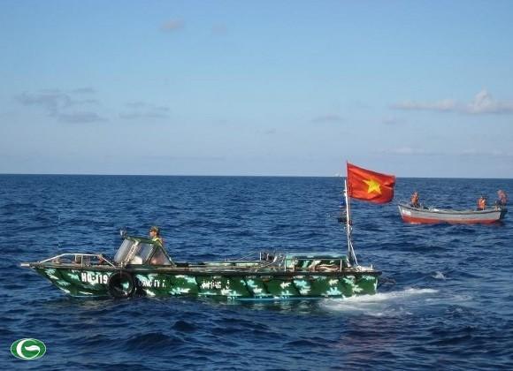 Xuồng CQ của đảo Song Tử Tây