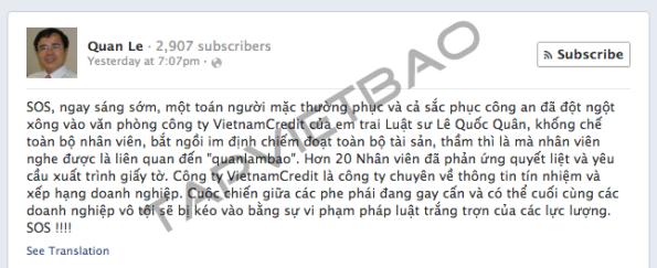 Facebook Lê Quốc Quân