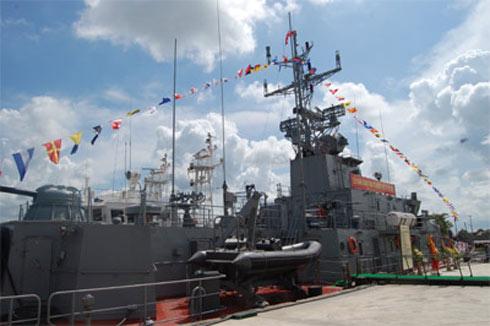 Tàu pháo số 2 đã được đóng thành công tại Công ty Đóng tàu Hồng Hà và bàn giao cho Quân chủng Hải quân hồi tháng 9. Ảnh: QĐND.