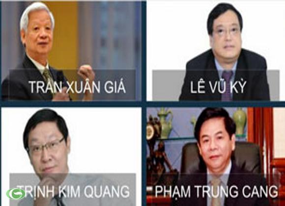 Các vị cựu lãnh đạo ngân hàng bị truy tố hôm 27-09-2012.