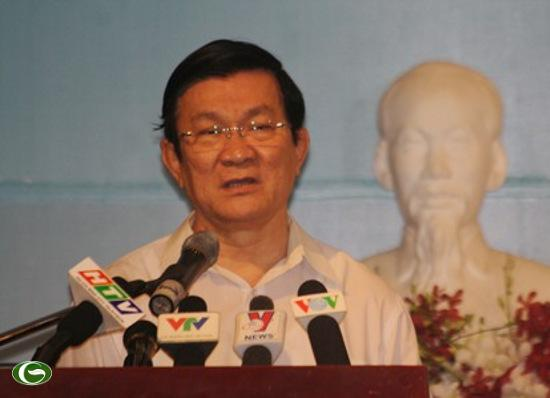 """Chủ tịch nước Trương Tấn Sang: """"Việc trị quốc phải bình tĩnh, tim phải nóng nhưng đầu phải lạnh"""""""