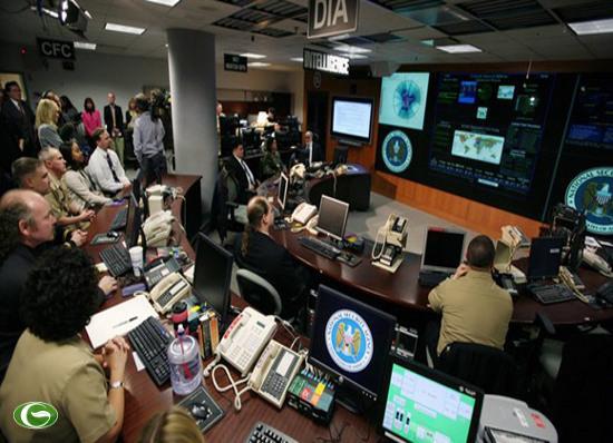 Một trung tâm chỉ huy của cơ quan an ninh quốc gia Mỹ ở căn cứ Fort Meade