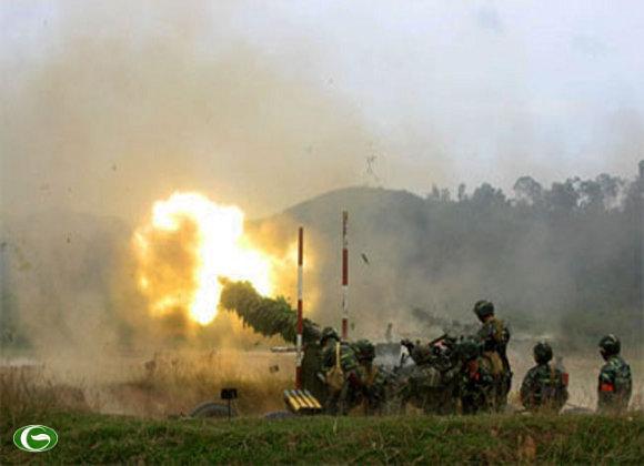 Đại đội 2 pháo PK 57mm đảm nhiệm trọng trách khai hỏa đầu tiên cho lữ đoàn.