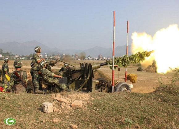 Khẩu đội Pháo 57mm, Tiểu đoàn 3, Lữ đoàn 214 tiêu diệt mục tiêu ngay từ loạt đạn đầu.