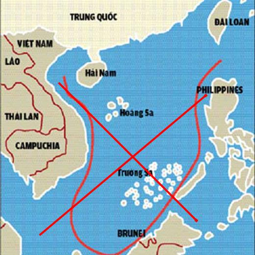 """Trung Quốc sẽ áp dụng chính sách chặn xét tàu thuyền của các nước hoạt động trong phạm vi """"đường chín đoạn"""" mà nước này ngang nhiên tự vẽ ra ở Biển Đông."""