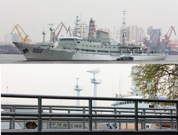 Tàu trinh sát điện tử Hải Vương Tinh 852 đã biến thành Hải giám 169