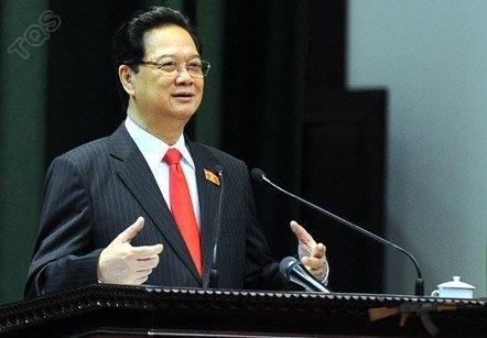 Thủ tướng Nguyễn Tấn Dũng: Nhóm lợi ích đi ngược lợi ích quốc gia. Ảnh: Minh Thăng