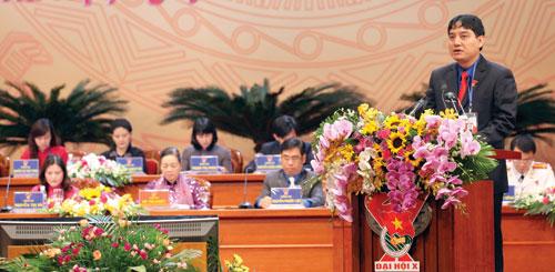 Anh Nguyễn Đắc Vinh phát biểu tại đại hội - Ảnh: Ngọc Thắng