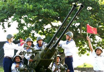 Khẩu đội pháo phòng không của quân chủng Hải quân sẵn sàng hạ gục mục tiêu