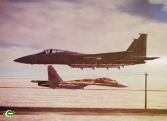 Su-27 có màn đụng độ với máy bay F-15C