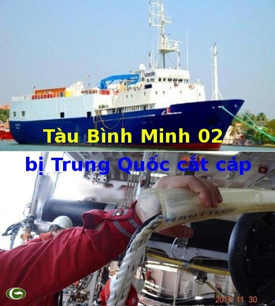 Tàu Bình Minh 02 bị Trung Quốc cắt cáp