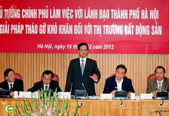 Thủ tướng Nguyễn Tấn Dũng chỉ đạo các Bộ, ngành chức năng tăng cường công khai, minh bạch ngay từ những việc nhỏ nhất đến thông tin về các hoạt động thị trường bất động sản