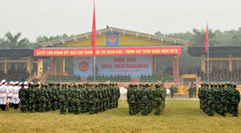 Gần 500 cán bộ, chiến sĩ đến từ 15 đội quân báo trinh sát, đại diện cho các đơn vị trong toàn quân