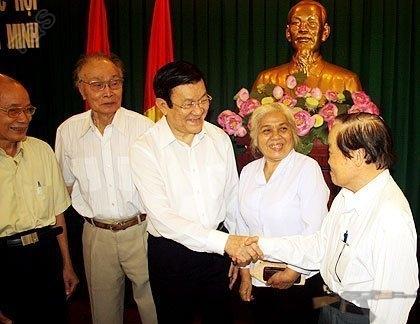 Chủ tịch nước Trương Tấn Sang: Chống tham nhũng không được sợ hãi hay né tránh. Ảnh: Tá Lâm