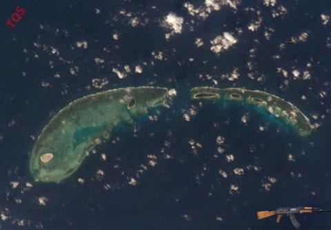 Một nhóm đảo thuộc quần đảo Hoàng Sa của Việt Nam. Ảnh: Oceandots