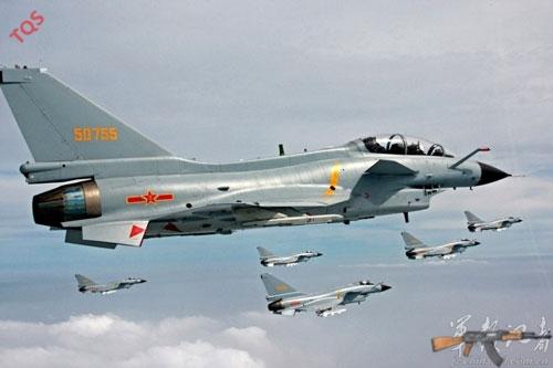 Chiến đấu cơ J-10 Trung Quốc đã được điều động bay ra Senkaku (hình minh họa)