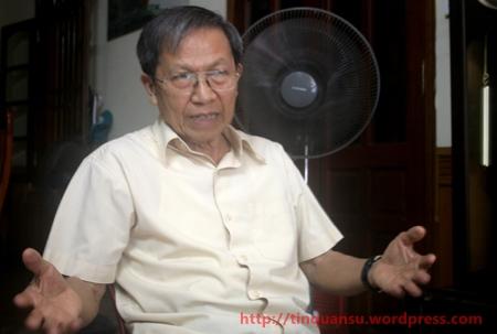 Thiếu tướng Lê Văn Cương: Mối quan hệ Việt-Trung khác biệt với mối quan hệ Philippines-Trung Quốc. (Ảnh: Phương Thảo)