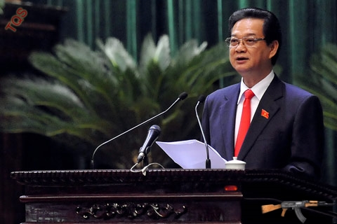 Theo Thủ tướng Nguyễn Tấn Dũng, để vượt qua được khó khăn trong năm 2013 cần sự nỗ lực của toàn Đảng, toàn dân. Ảnh: Hoàng Hà.