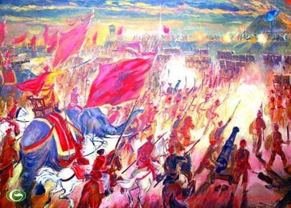 Quang Trung đại phá quân Thanh.
