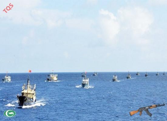"""Tàu Trung Quốc """"được tiếng"""" là hay xâm phạm vùng biển chủ quyền của nước khác và thường đi thành từng tốp có số lượng đông"""