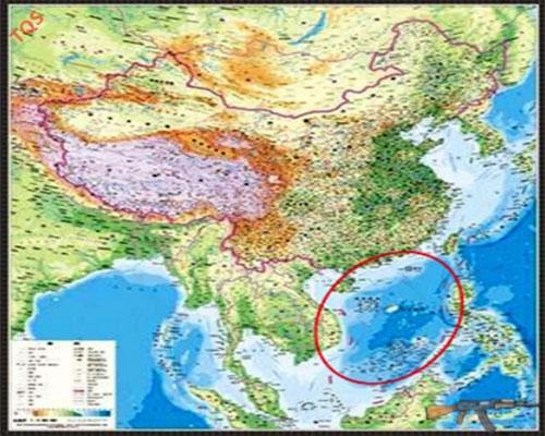 Bản đồ lừa dối mới của Trung Quốc bao gồm 130 đảo ở Biển Đông.