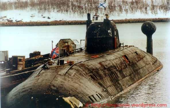 Tàu ngầm hạt nhân mang tên lửa đạn đạo của Hải quân Liên Xô (ảnh tư liệu minh họa)