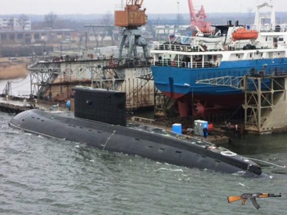 Tàu ngầm Kilo Việt Nam đang thử nghiệm tại Nga. Ảnh minh họa