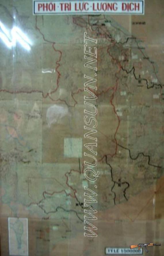 Bản đồ dưới hầm ngầm dinh Độc Lập.