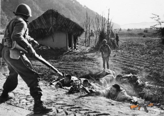 Các binh sĩ Triều Tiên bị bắt ngày 16/11/1950 tại Triều Tiên.