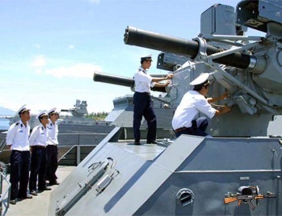 Cận cảnh hệ thống phòng không tích hợp Palma trên tàu hộ tống tên lửa lớp Gepard-3.9 của Hải quân Việt Nam.