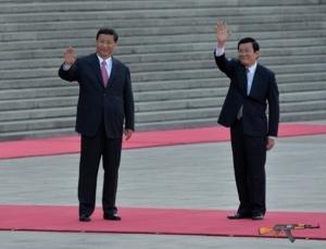 Chủ tịch Trung Quốc Tập Cận Bình và Chủ tịch nước Trương Tấn Sang.