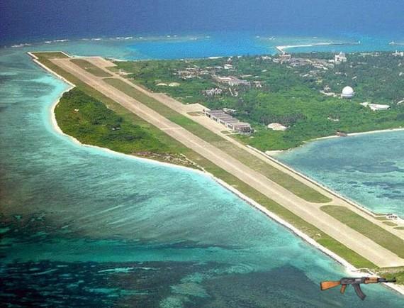 Đảo Phú Lâm thuộc quần đảo Hoàng Sa của Việt Nam bị Trung Quốc chiếm giữ trái phép
